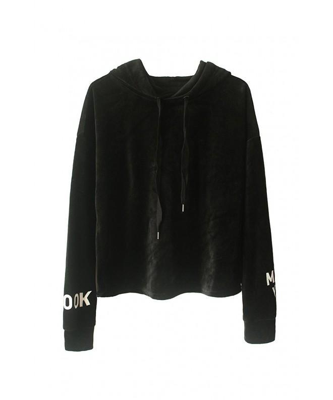 ROOLOY Womens Velvet Pullover Sweatshirt