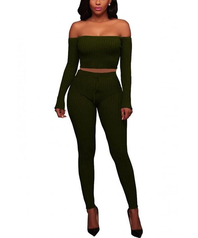 EnWei Outfits Shoulder Bodycon Jumpsuits