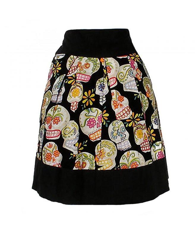 Womens Hemet Sugar Skulls Skirt