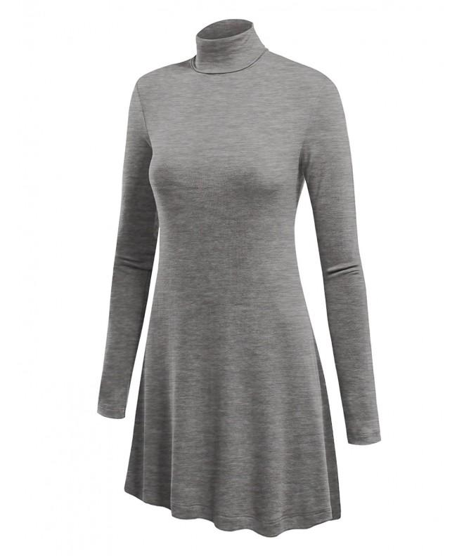 Womens Turtleneck Sweater Various Heather_Grey
