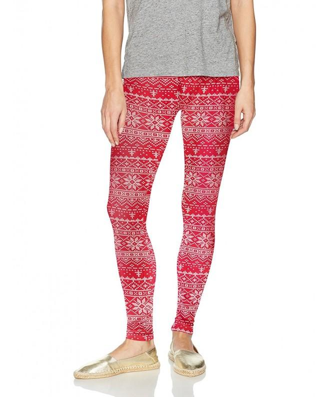 Derek Heart Christmas Leggings Snowflake