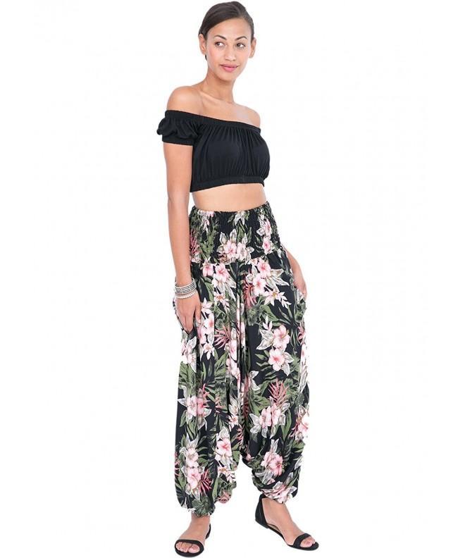 likemary Printed Bandeau Jumpsuit Tropical