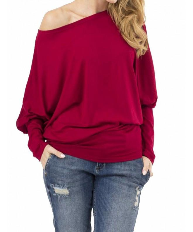 Sexyshine Womens Autumn Batwing Off Shoulder
