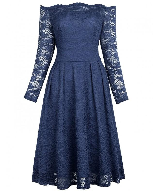 Sleeve Party Swing Retro Dresses