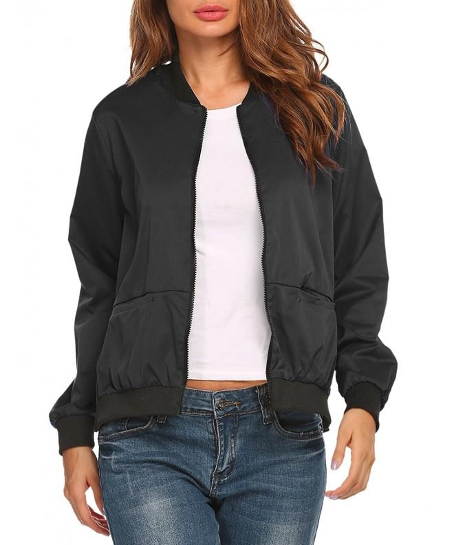 Beyove Women Motorcycle Zipper Jacket