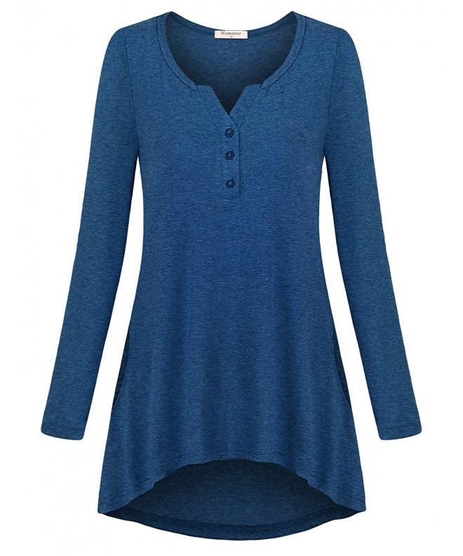 Nomorer Pullover Tunics Womens Blouses