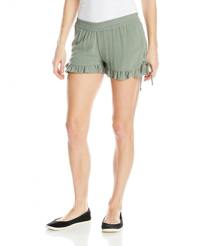 Derek Heart Womens Ruffled Short