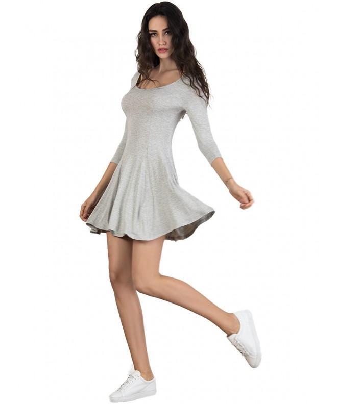 Persun Womens Scoop Sleeve Skater