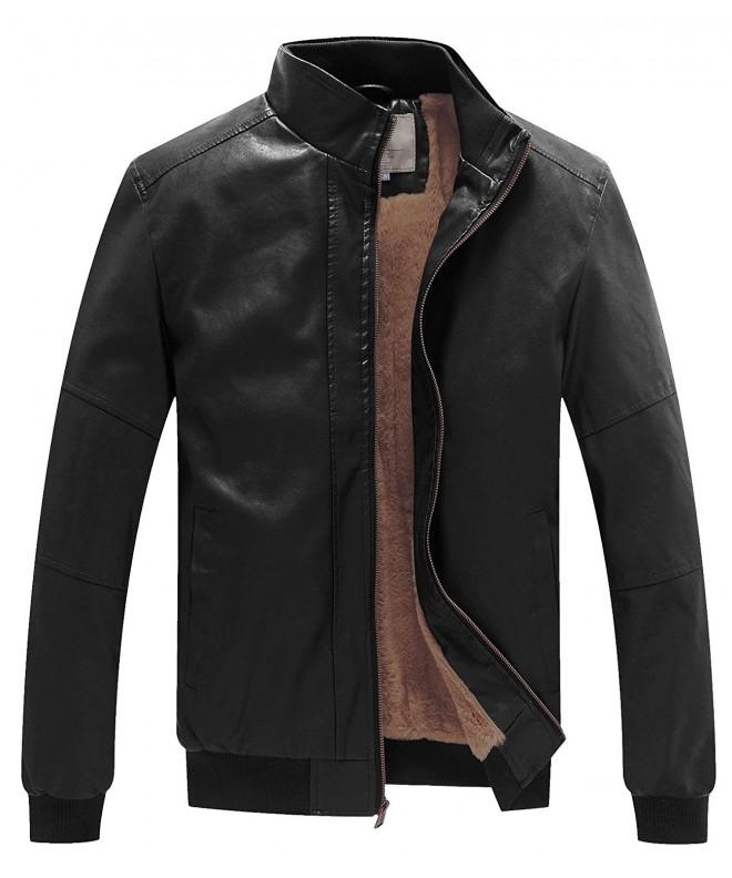 WenVen Winter Fashion Leather Jackets