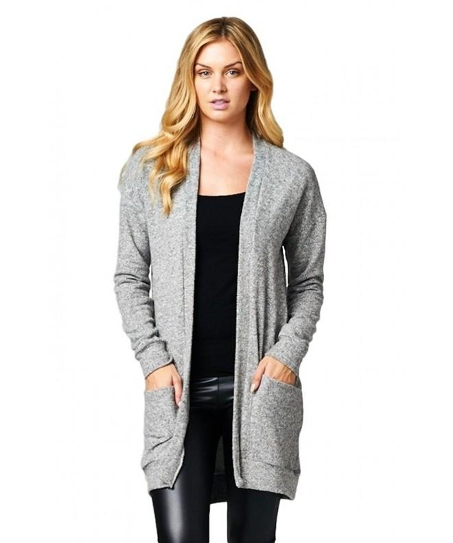 Cherish Womens Cardigan Pockets Heather