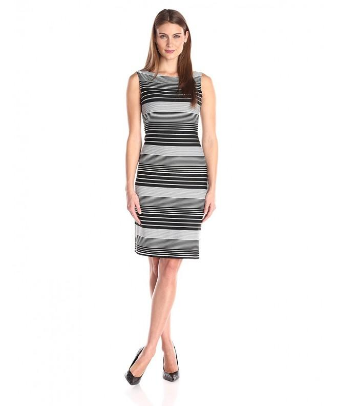 Tiana Womens Varied Striped Sleeveless