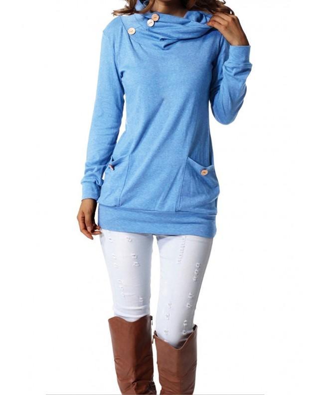 FANTIGO Womens Pockets Blue XXXL