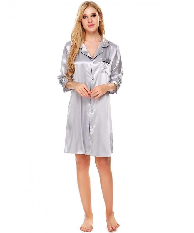 Bifast Nightgown Boyfriend Nightshirt Sleepwear