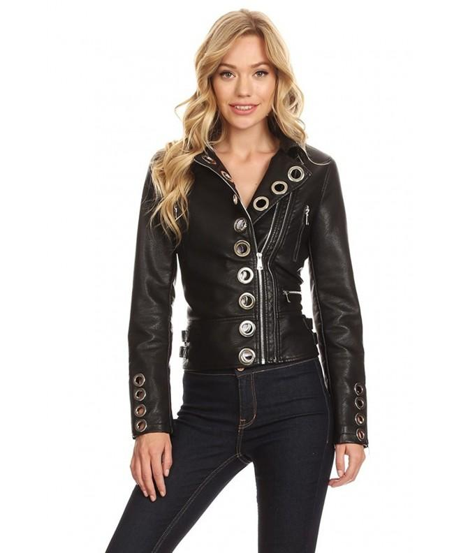 Pretty Attitude Womens Leather Studded