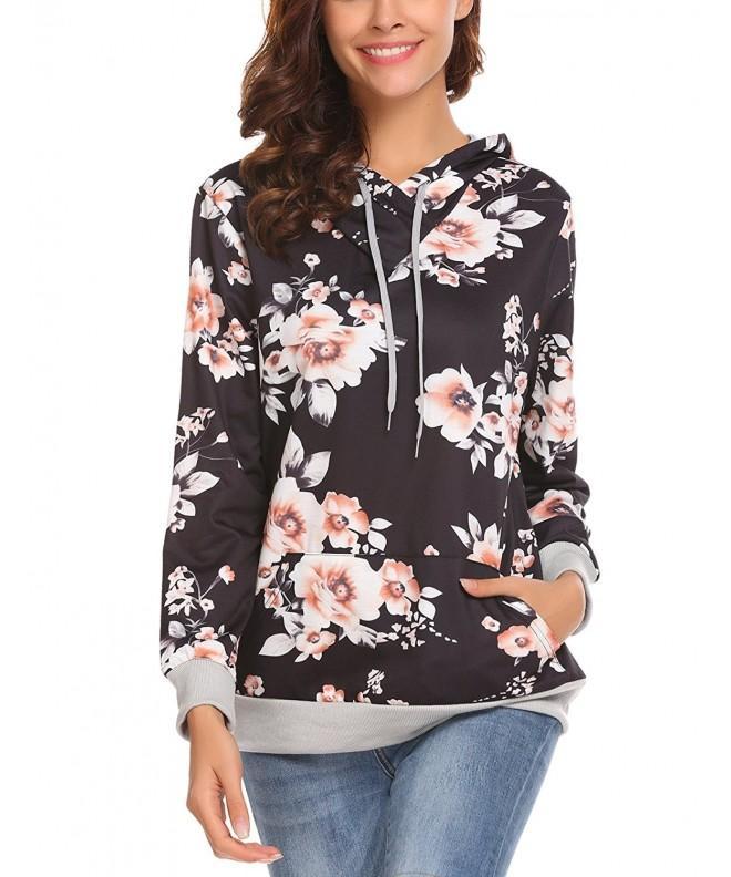 Womens Casual Sleeve Hoodie Pullover