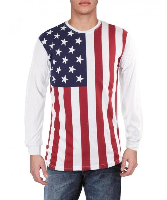 Mens Flag Sleeve Shirt X Large