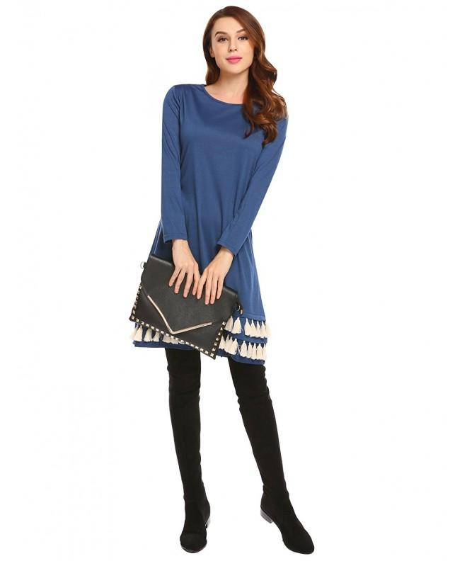 Women Casual Sleeve Tassel Cotton