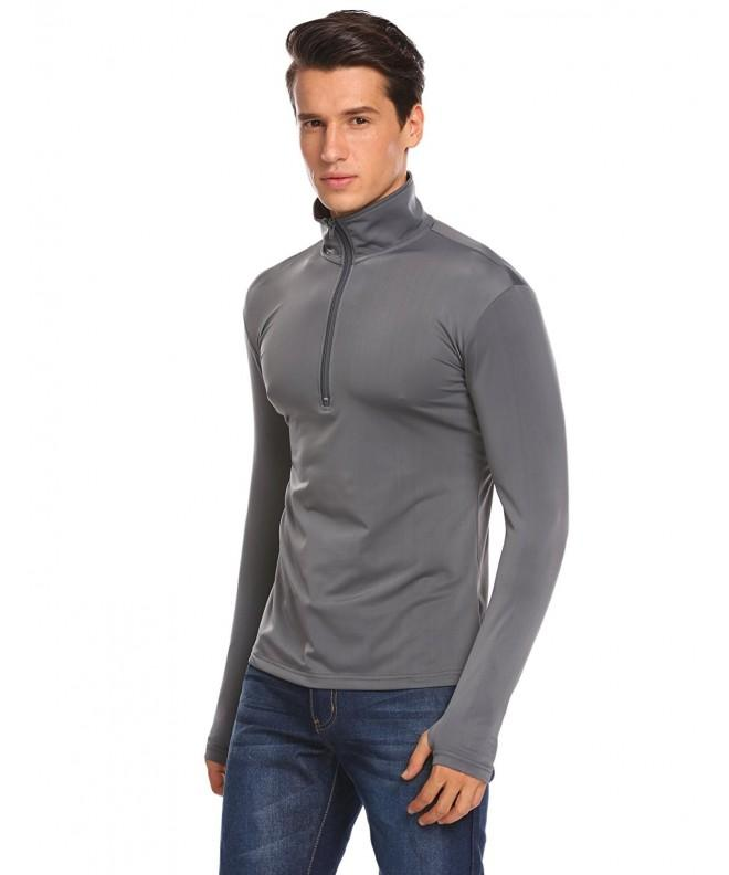 COOFANDY Fitness Quarter Zip Pullover Sport Style