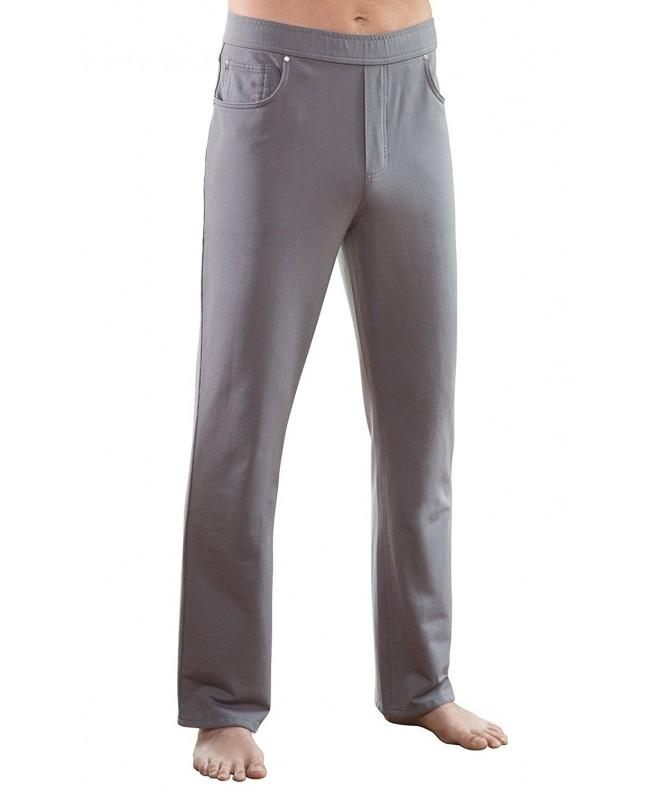 PajamaJeans Straight Denim Jeans Pewter