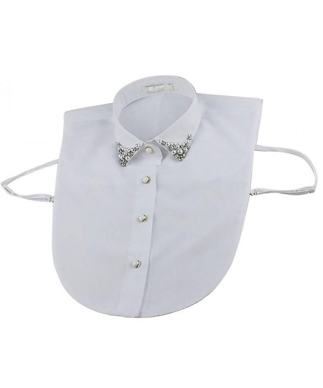 Vivian Blouse Detachable Collar Rhinestone