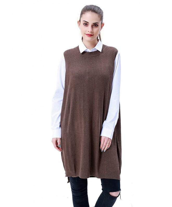 MEEFUR Pullover Crewneck Sleeveless Sweater