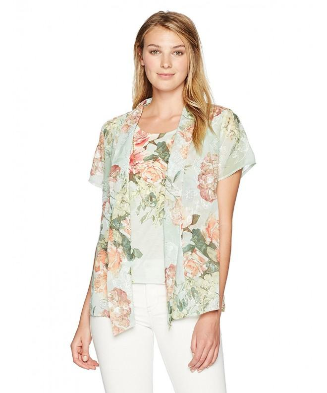 Alfred Dunner Womens Floral Sage
