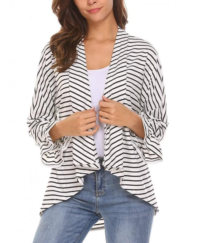 Soteer Womens Stripe Cardigan Sweater