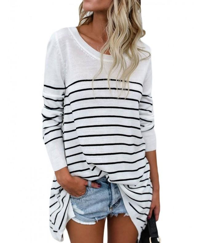 CICIDES Casual Stripes Sweater Pullover