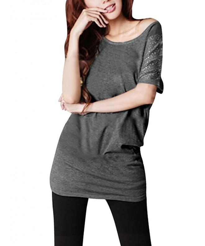 Allegra Woman Scoop Batwing Sleeve