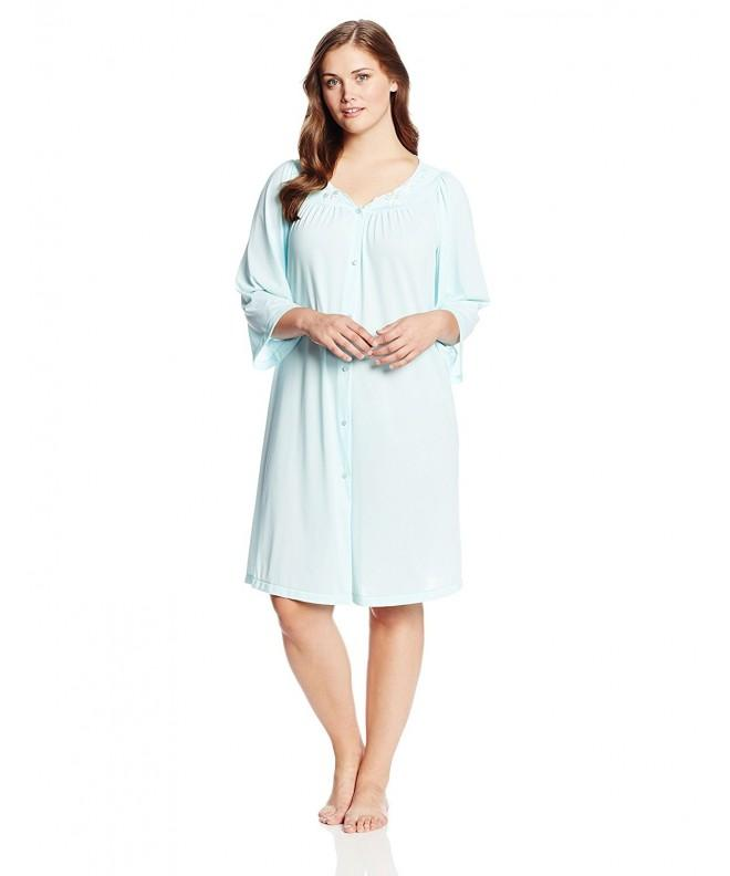 Miss Elaine Womens Plus Size Seafoam
