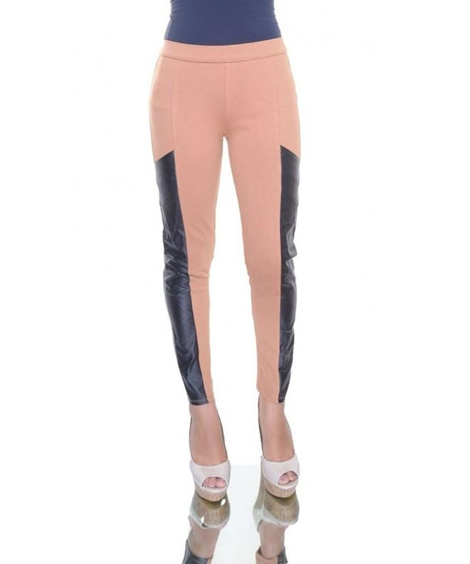 Bar III Faux Leather Paneled Leggings