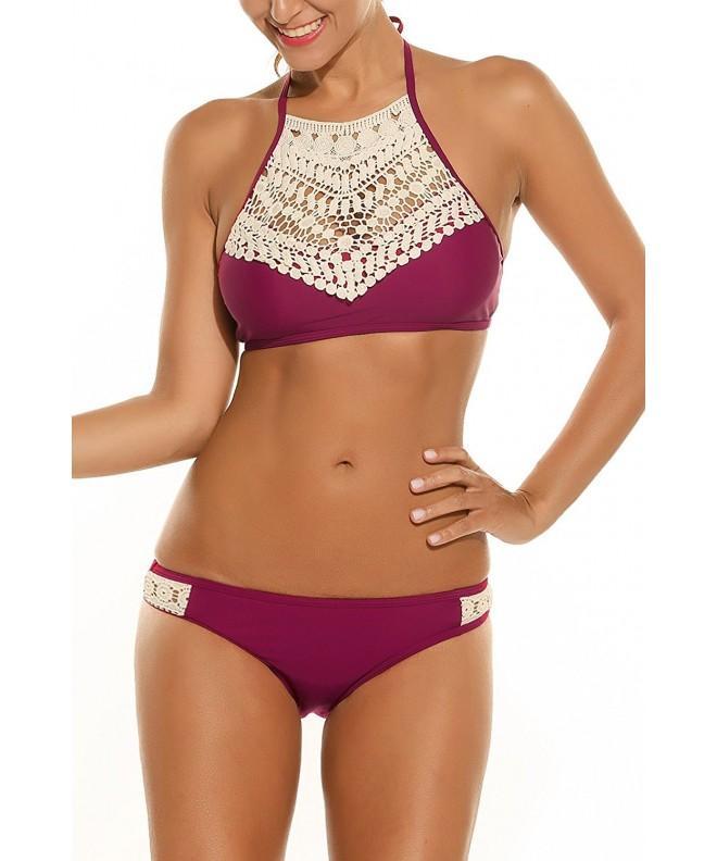 ADOME Crochet Swimsuit Bathing Swimwear