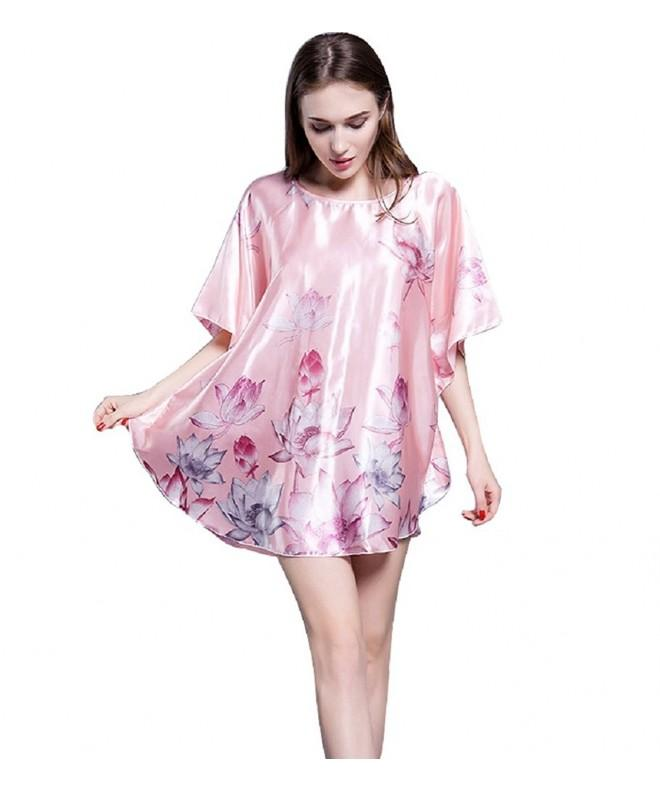 SexyTown Womens Batwing Sleeve Nightgown