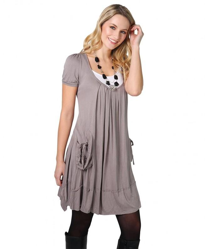 3303 Tunic Dress Necklace Mocha
