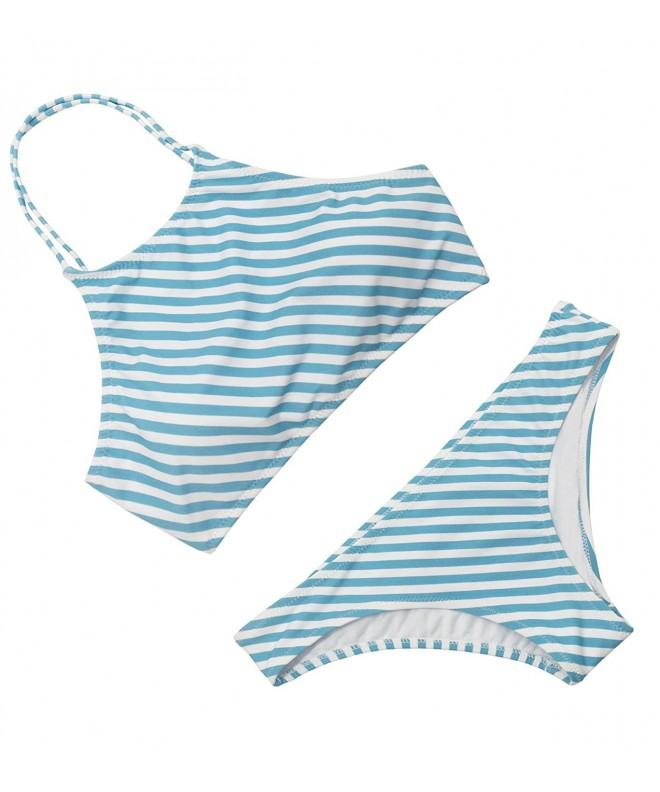 Balanciga Womens Stripe Printing Swimsuit