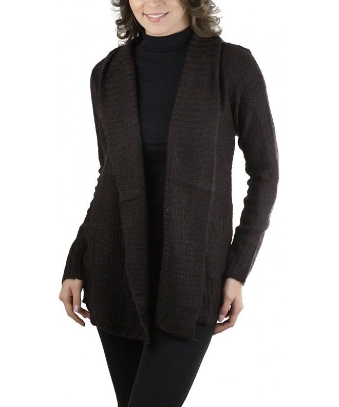 ToBeInStyle Womens L S Collar Cardigan