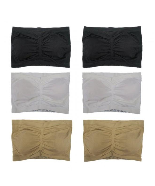 Women Solid Color Padded Bandeau
