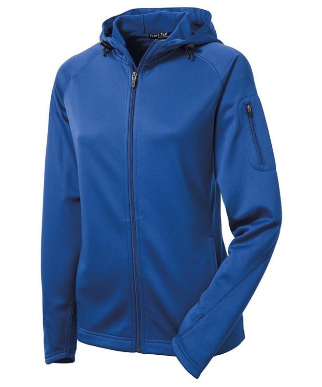 Sport Tek Ladies Fleece Full Zip Hooded
