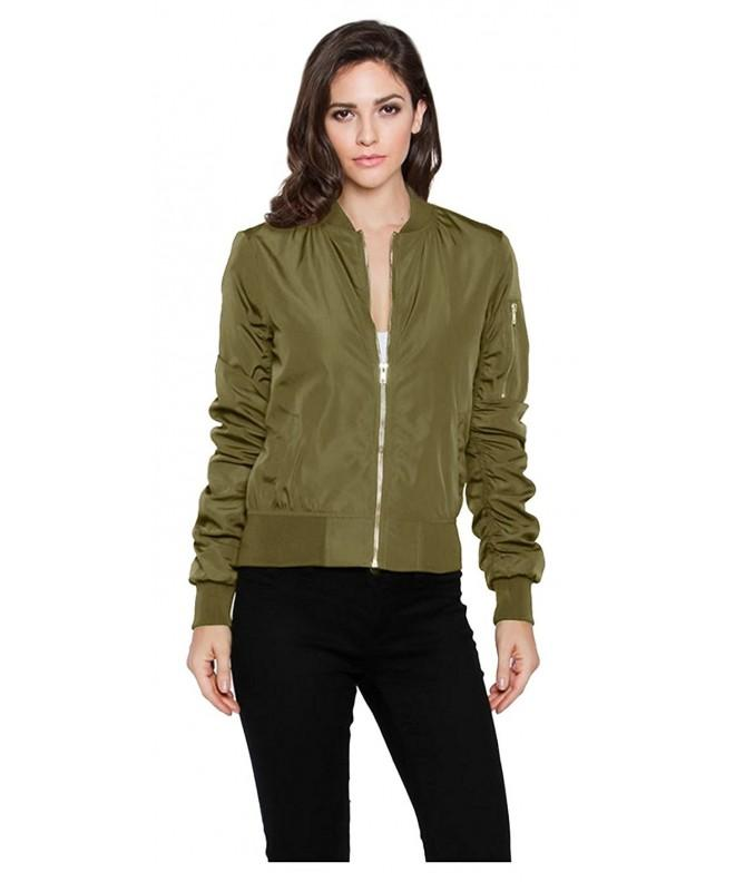 Tabeez Womens Military Inspired Bomber Pockets