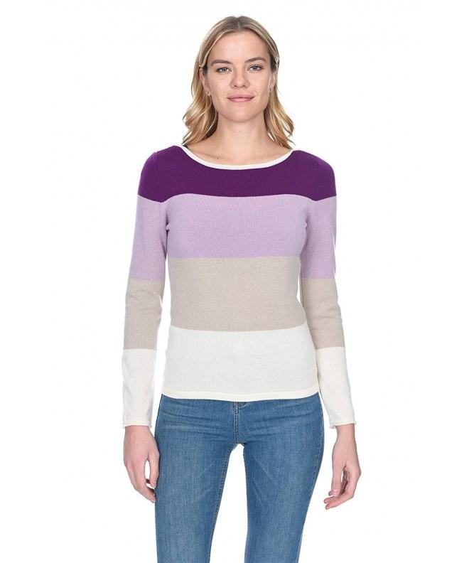 State Cashmere Womens Striped Sweater