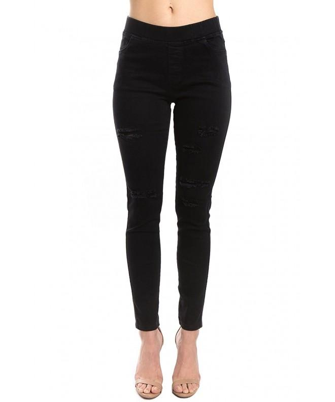 Trinity Jeans Distressed Jeggings Black_Distress