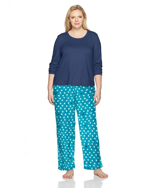 Jockey Womens Microfleece Pajama Midnight