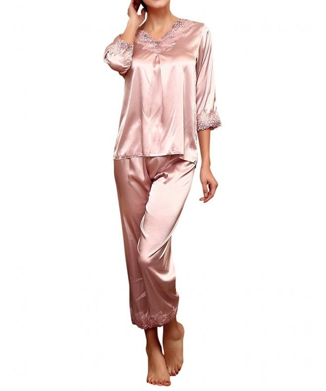 LAPAYA Womens Pajama Sleeve Sleepwear