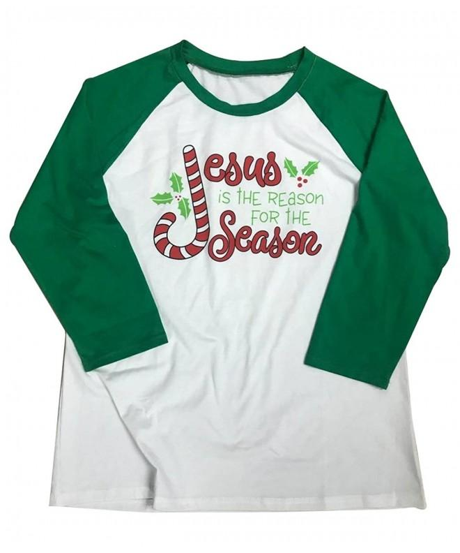Christmas Reason Baseball T Shirt Splicing