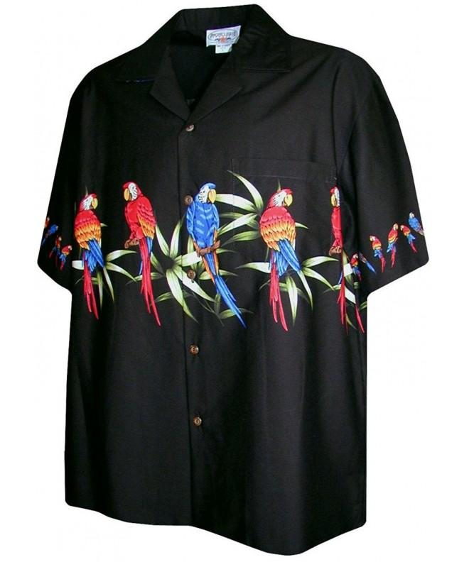 Hawaiian Shirt Men Parrot 2X Large
