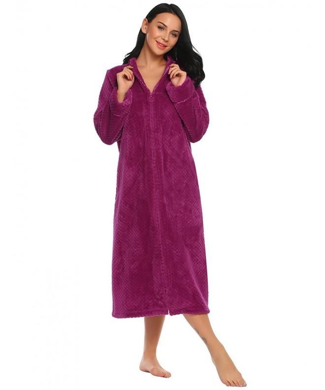 Langle Womens Fleece Length Bathrobe