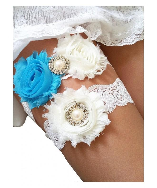 Ivory Beach Wedding Garter Rhinestone