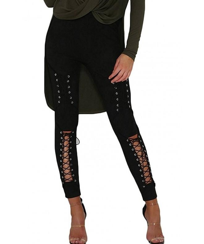 Sorrica Womens Crisscross Bodycon Leggings