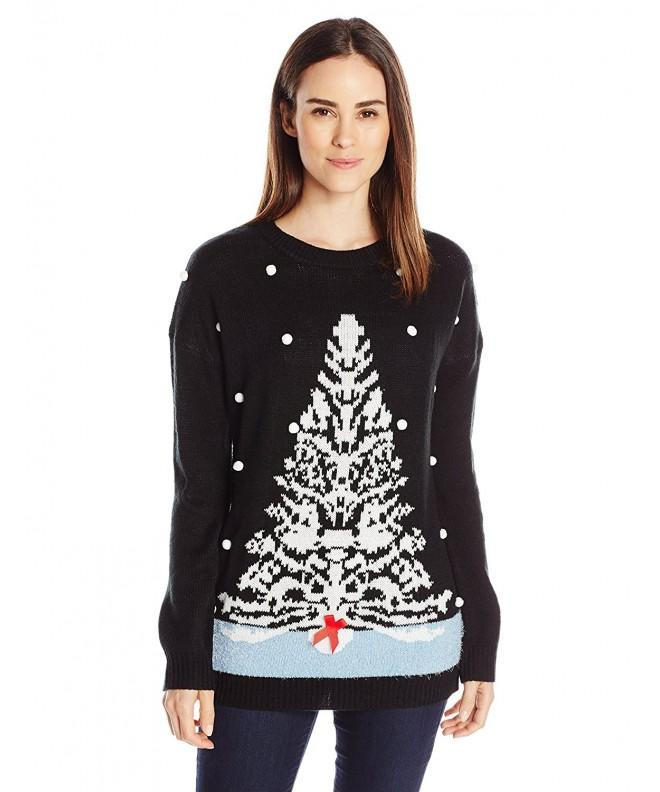 Notations Womens White Christmas Sweater