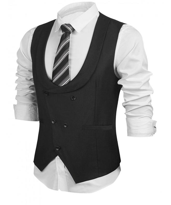 HOTOUCH Business Vests Waistcoat Tuxedo
